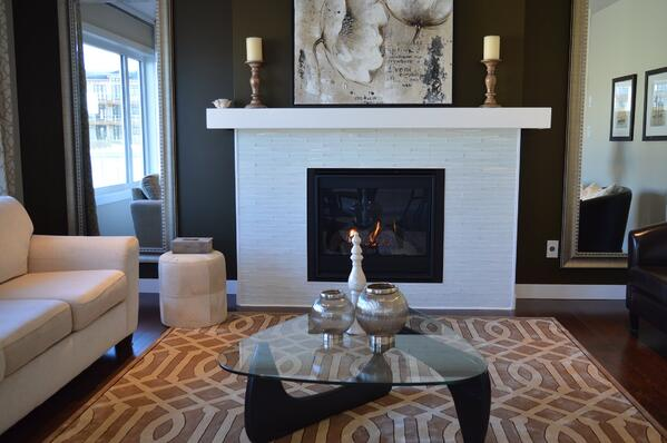Image of a modern fireplace