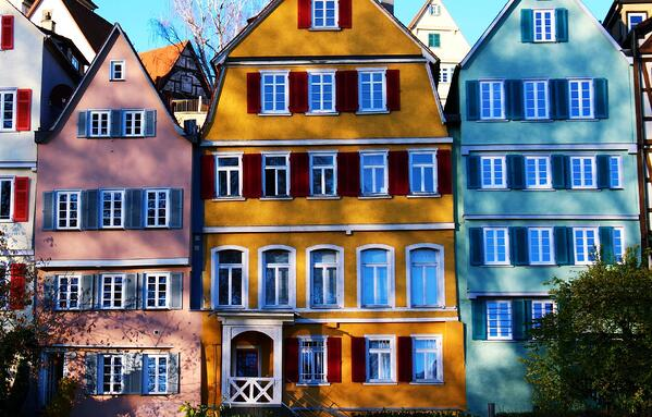 Image of colorful houses