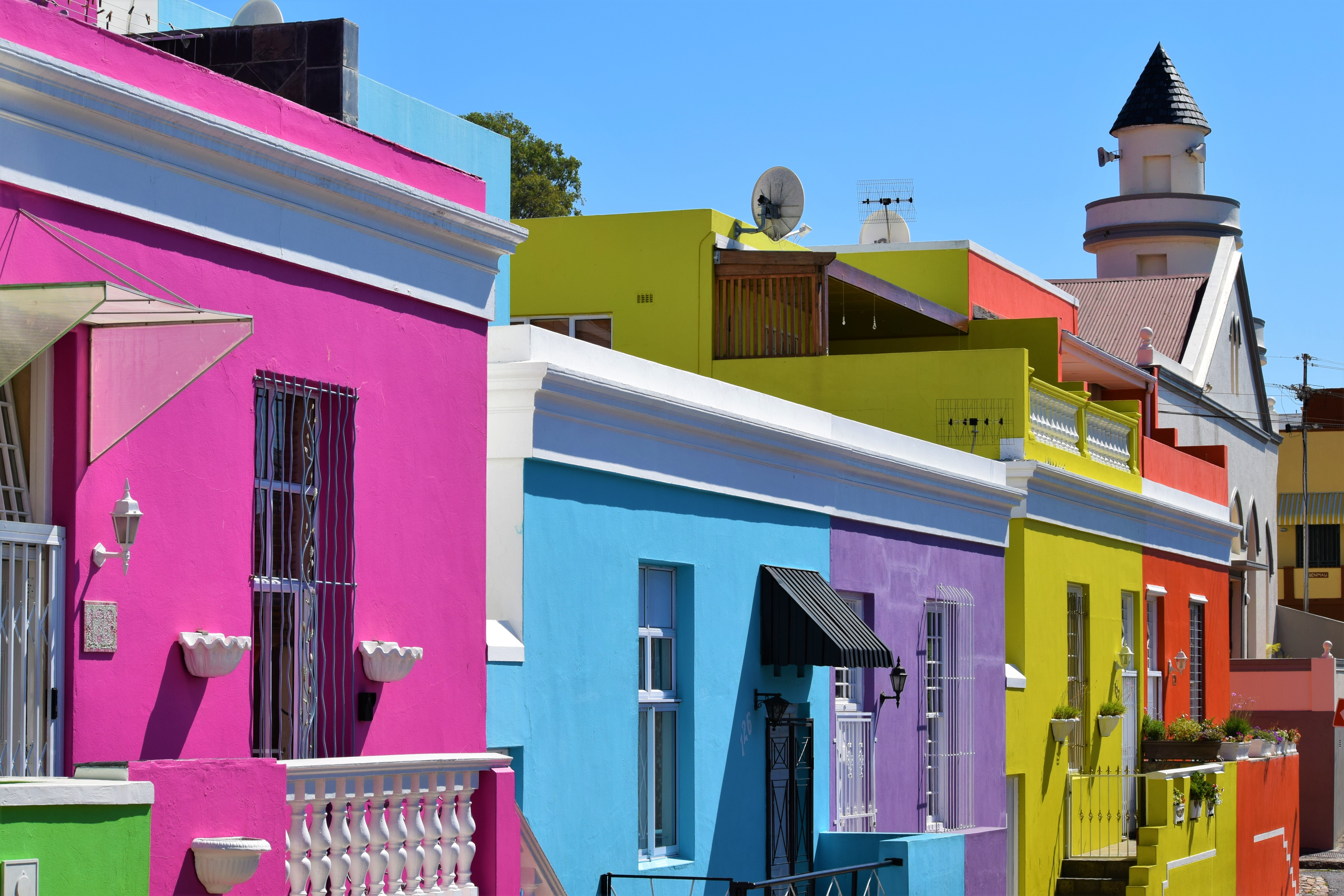 Image of colorful buildings in Bo-Kaap, South Africa