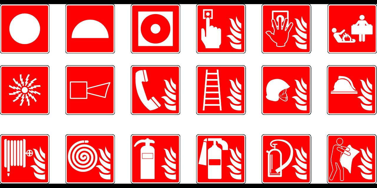 Image of emergency symbols