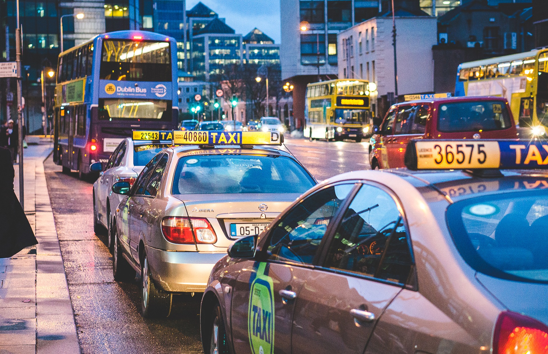 Image of taxis in Dublin